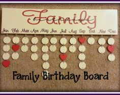Family Birthday Board - Never Forget Birthdays Again