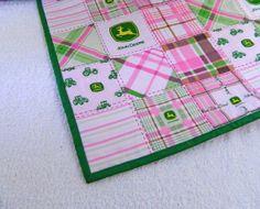 John Deere Pink & Green Quilt