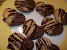 chocolate dipped and chocolate swirl