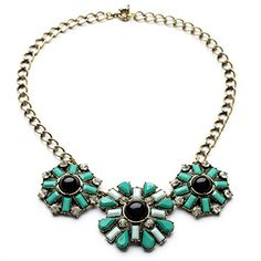 ZLYC Women's Fashion Tribal Boho Summer Colorful Block Statement Necklace (Green) ZLYC http://www.amazon.co.uk/dp/B00MB18BXE/ref=cm_sw_r_pi_dp_ZG22tb0E0GA6N1QY