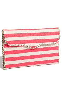 Rebecca Minkoff stripe passport wallet, check out the inside...