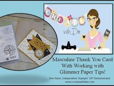 Thank My Lucky Stars Masculine Thank You Card with Glimmer Paper Tips - Create! with Dee