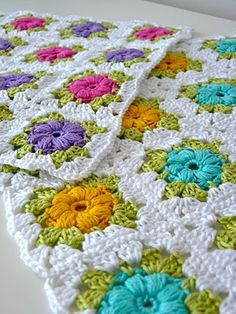 Mollie Flower granny squares (great colors, too!)