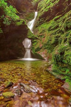 Earth Phenomenon - St Nectan's Glen, Tintagel, Cornwall, England The Places Youll Go, Places To See, St Just, Les Cascades, All Nature, Beautiful Waterfalls, Wonders Of The World, Places To Travel, Landscape Photography