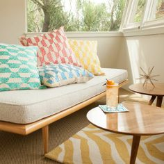modern retro cushions by Trina Turk