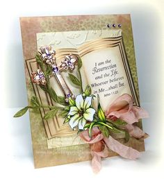 Easter Blessing card designed by Linda Duke