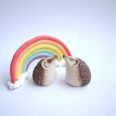 Hedgehog Wedding Cake Topper With or Without Rainbow