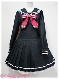Lolibrary | Angelic Pretty - OP - BLOOD-C×Angelic Pretty Collaboration Pleated School OP