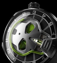 HYT Green Skull Amazing Swiss Watch