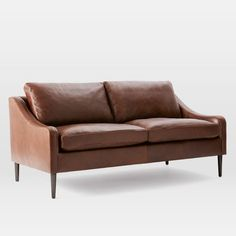 "Lindrum leather sofa - West Elm $1,599 - 72.5"" w x 37.3"" d x 35"" h"
