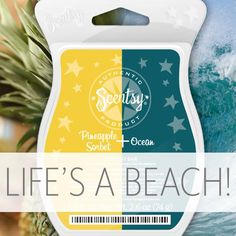 Need a day at the beach? Landlocked? NO PROBLEM! #MayMixers https://casies.scentsy.us/Buy/Category/21161 #justawickaway #scentsy