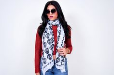 Skull Scarf White....need this!