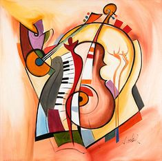 Alfred Gockel Music is my life art painting for sale; Shop your favorite Alfred Gockel Music is my life painting on canvas or frame at discount price. Music Painting, Music Artwork, Oil Painting Abstract, Arte Jazz, Jazz Art, Alfred Gockel, L'art Du Portrait, Fine Art Gallery, Bunt
