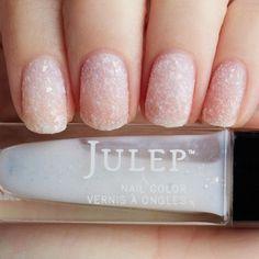 Snowdrift iridescent stardust nail polish