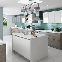 A simply, lovely rendering of a Silestone kitchen by Christopher Kennedy Inc http://www.CabinetsAndDesigns.net/products/silestone/