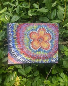 Items similar to Bohemian Canvas Art Hanging Wall of Leaning on Shelf Flower Paradise Painting Thin Canvas in Acrylic Home Decor on Etsy Wooden Box Shelves, Pipe Shelves, Closet Shelves, Small Shelves, Glass Shelves, Wooden Boxes, Paradise Painting, Tree Shelf, Office Shelf