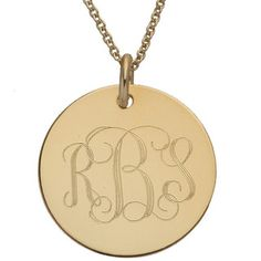 Gold Disc Initials monogrammed necklace by sonyarenee