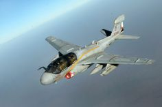 The Aviationist » [Photo] U.S. Navy's Last EA-6B Prowlers and F/A-18C Legacy Hornets take fuel over Iraq