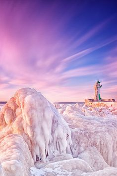 ~~Icy Lighthouse ~ Sassnitz, Mecklenburg-Vorpommern, DE by ill-padrino...~~ #Germany
