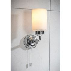 A contemporary choice for your bathroom, the Greenwich Bathroom Wall Light is a very stylish way to add extra light. A chrome finish and a frosted glass shade that creates a soft glow. There is a pull cord to turn the light on and off. Bathroom Wall Lights, Wall Lights, Light, Wall Sconce Lighting, Sconces, Lighting, Bathroom Wall, Lights, Bathroom Lighting