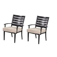 Hampton Bay Marshall Patio Dining Chair with Bare Cushion (2-Pack)-HD14313 at The Home Depot