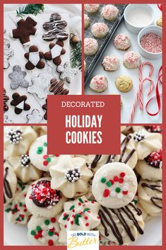 Whether you're a royal icing rookie or a buttercream veteran, decorated cookies can be easy once you break them down into a few simple steps, and our holiday cookie decorating tutorials will show you how. Holiday Cookie Recipes, Holiday Cookies, From Farm To Table, Pureed Food Recipes, Decorated Cookies, Royal Icing, Cookie Decorating, Gingerbread, Tutorials