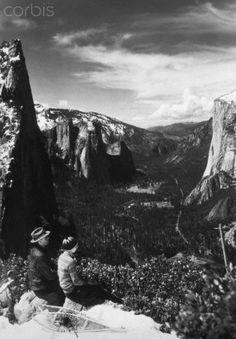 Ansel Adams with Virginia Best, Yosemite National Park, California, 1927