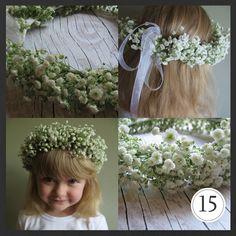 ProjectGallias dla D.I.Y. czyli zrób to sam: DIY : Komunijny wianuszek z kwiatów DIY: flower hair garland by ProjectGallias