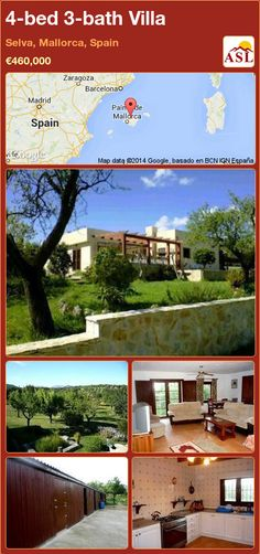 4-bed 3-bath Villa in Selva, Mallorca, Spain ►€460,000 #PropertyForSaleInSpain