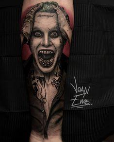 Best Sleeve Tattoos, Tattoo Sleeve Designs, Harley Quinn Tattoo, Piercings, Joker Art, Joker Tattoos, Body Art, Nail Art, Ink