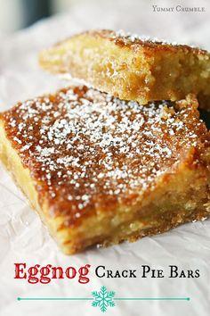 Eggnog Crack Pie Bars - www.yummycrumble.com