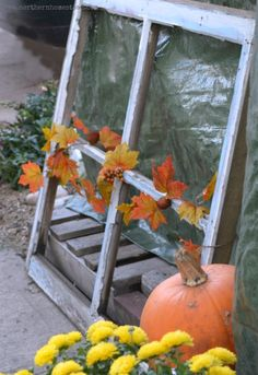 Fall Garden Deco Thoughts and Ideas - Keep fall decoration uplifting and positive