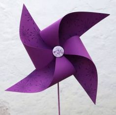 Art Activity - How To Make A Paper Pinwheel - Toy Paper Windmill Craft