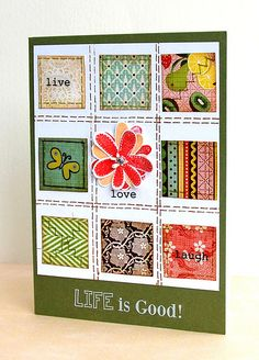 Another way to put those patterned paper scraps to beautiful use!