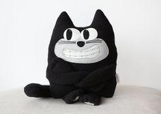 Funny kitten Drutex with dental bracesCat Plush Soft by ecotule