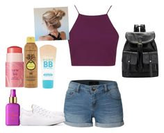 """""""Hot 39 degree weather"""" by hoodiesforlife on Polyvore featuring LE3NO, Topshop, tarte, Forever 21, Maybelline and Converse"""