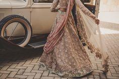 Pastel pink engagement lehenga , floral embroidery lehenga , sheer dupatta…