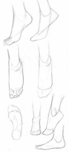 Art Drawings Sketches Simple, Pencil Art Drawings, Easy Drawings, Drawing Techniques, Drawing Tips, Drawing Ideas, Feet Drawing, Drawing Drawing, Body Base Drawing