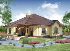 Ramzes - zdjęcie 1 House Roof Design, Home Building Design, Building A House, House Plans With Photos, My House Plans, Philippines House Design, Philippine Houses, Beautiful House Plans, Modern Bungalow House