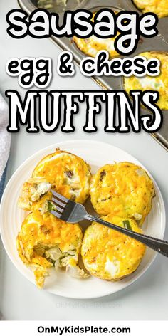 Easy Egg Recipe - These make ahead egg muffins are the perfect breakfast recipe for meal prep for the week or a weekend breakfast. Make this recipe with sausage, egg and cheese into bite size breakfast muffins that taste like mini crustless quiche! It will be your new favorite recipe! #eggs #eggmuffins #breakfastmuffins #breakfast #easyrecipe #breakfastrecipe #miniquiche