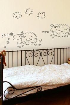 counting sheep wall stickers. Stickaroo Nursery Wall Stickers, Vinyl Wall Stickers, Sheep Nursery, Wall Murals, Wall Art, Counting Sheep, Baby Room, Vinyl Decor, Mural Ideas