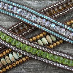 Triple Row AND Multi Wrap Leather Bracelet Jewelry by 4petessake, $10.00