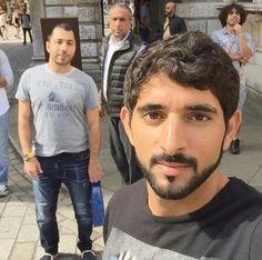 Prince hamdan with friends