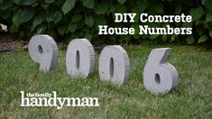 Add a touch of charm to your front yard by creating oversized concrete house numbers. Watch the video to see how this project comes together; then follow the simple steps below to do it yourself!