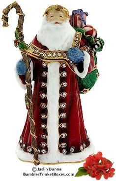 Trinket Box: European Santa Claus
