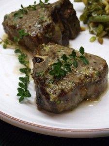 Lamb chops w/Lemon, thyme & mustard Butter