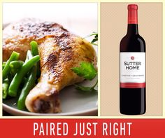 What's for dinner tonight? Roasted chicken and a glass of Cabernet Sauvignon sound good to us!