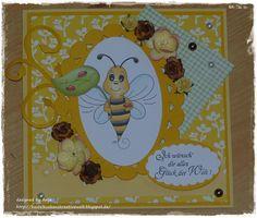 Karte mit Biene von Peppercus Design