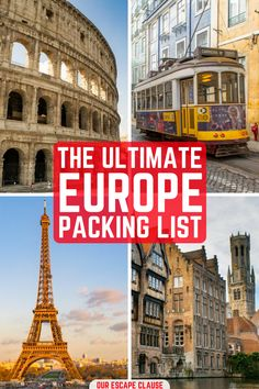 The only Europe packing list you need when planning your trip, complete with travel gear and separate lists for men and women. #travel #packing #packinglist #europe #europepackinglist #pack #luggage #backpacking #europetrip