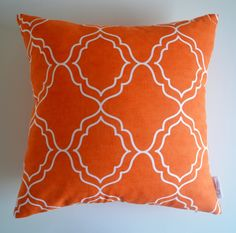 """Adalie"" Orange Geometric Cushion Cover 